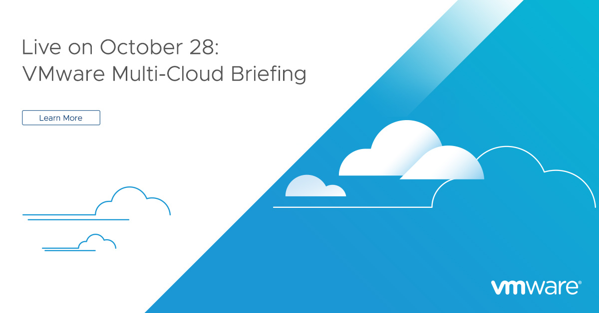 🗣VMware is having its second Multi-Cloud Briefing, and you won't want to miss it. Get ready for an action-packed event on 28 October: https://t.co/fxzYUr64mD https://t.co/z00o8SKQkH