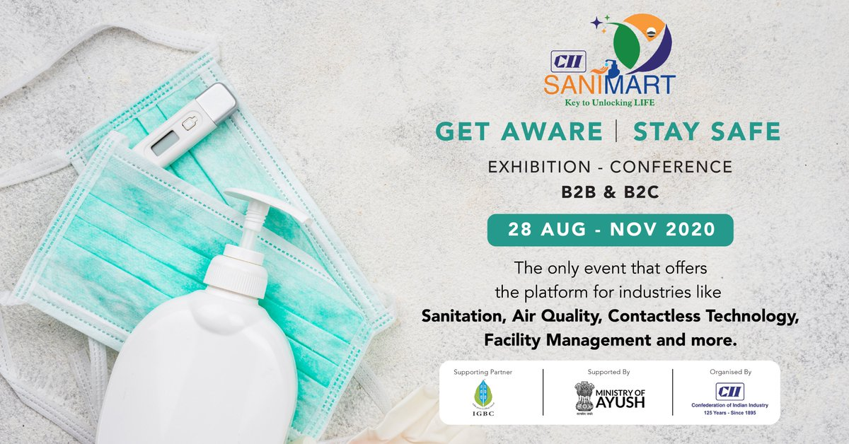 Sign up for the most talked about event on enhancing the quality of life and creating safe place. Visit #CIISaniMart Virtual Exposition! https://t.co/0W88eZZxa6 #CleanAir #Sanitation #AirQuality #Environment #sustainability #Sanitization #Unlock5  @moayush @IGBConline https://t.co/lEO4w694A2