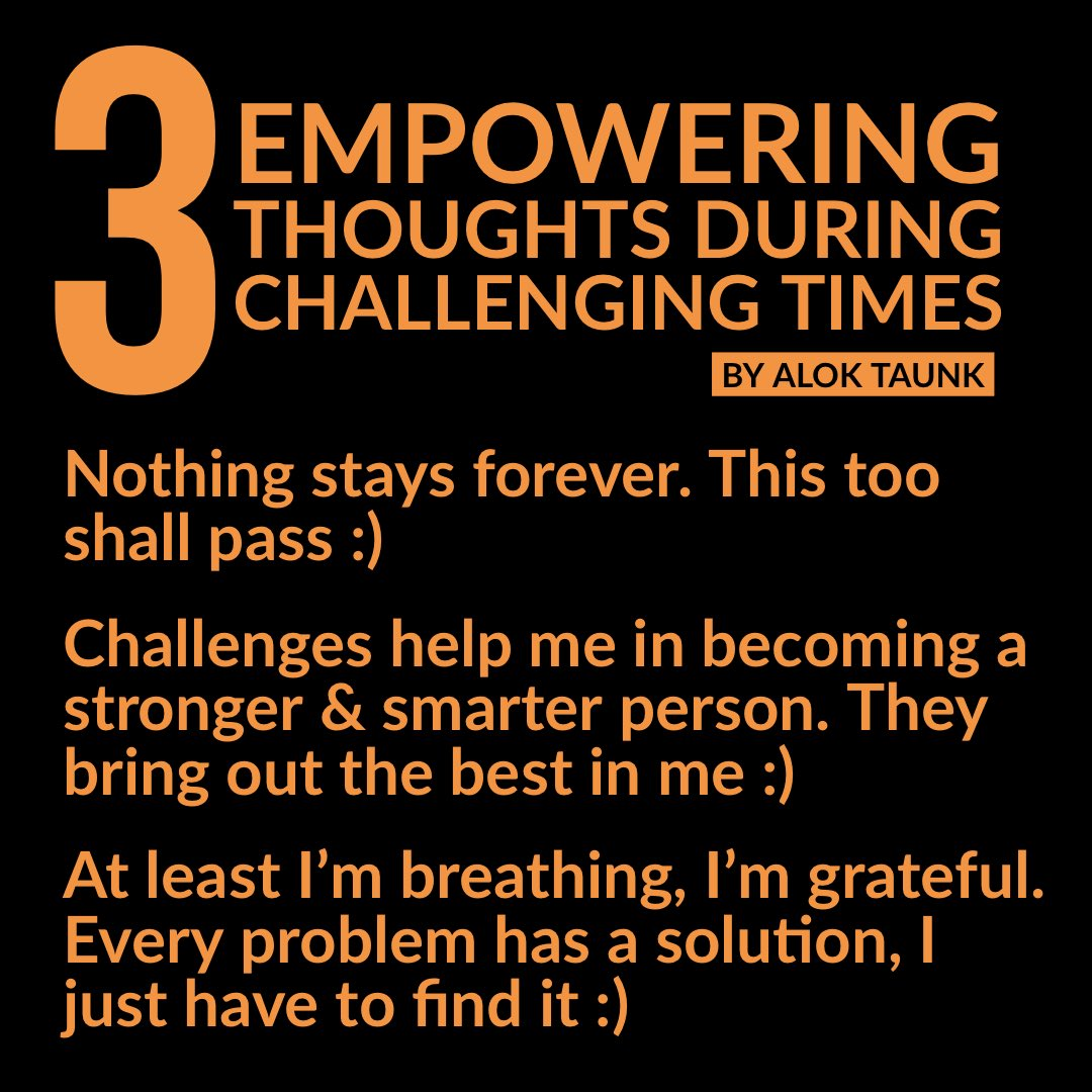 Empower yourself with these power thoughts🔥 Leave a YES if this resonates with you. #positivethinking #positivethoughts #thoughts #mindset #mindsetmatters #positivevibes #dailymotivation #dailyinspiration #staystrong #innerstrength #aloktaunk #share #lifelessons #powerofthought https://t.co/li9Ofj6dIA