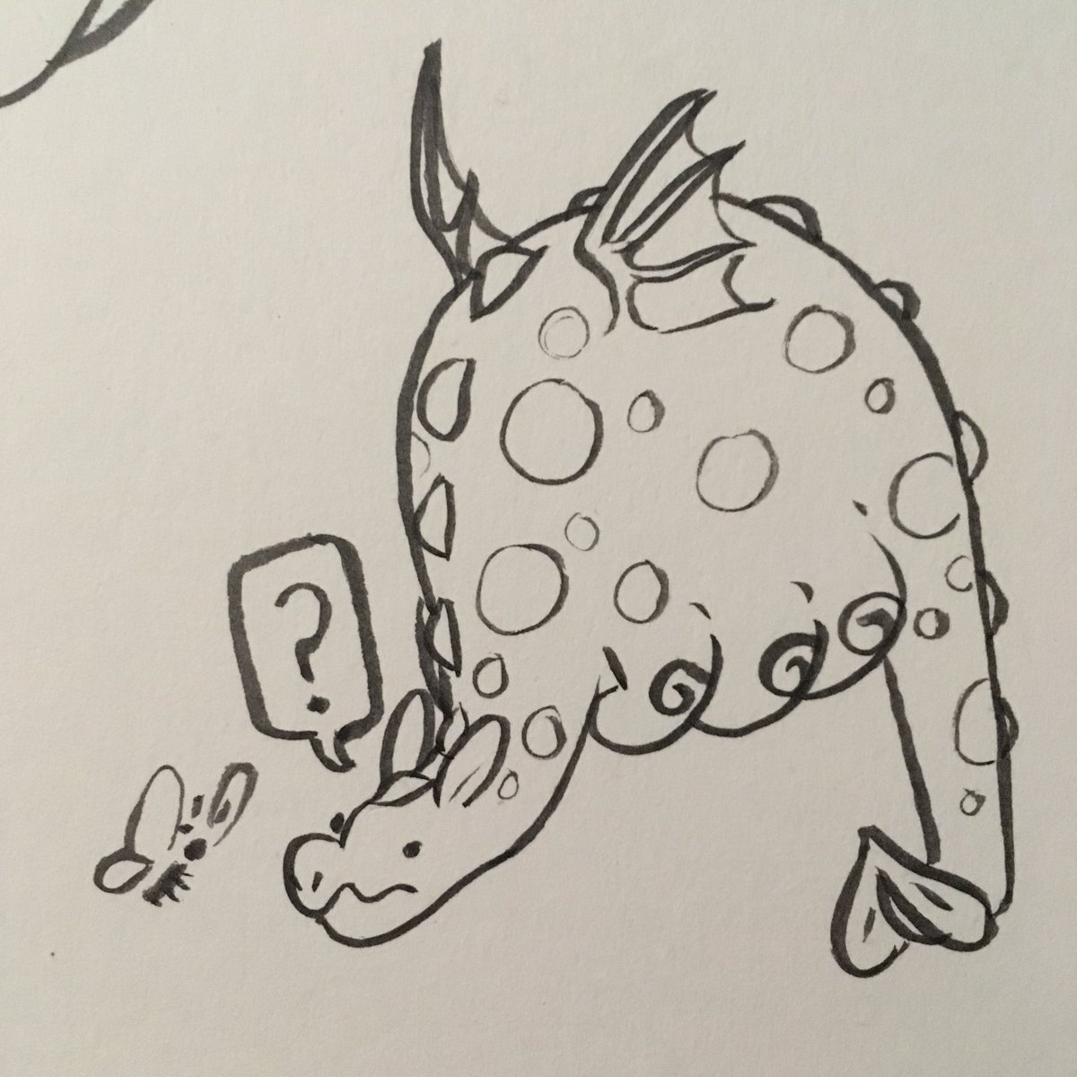 missed yesterday & almost missed today bc new Pokémon content consumes my entire brain but we got there in the end anyway have some weird lil dragon dudes   #ink #inkdrawing #dragon #characterdesign https://t.co/hAte5FS6H6