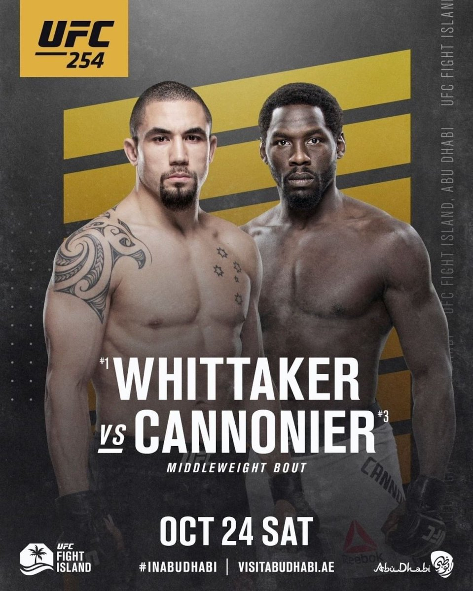 The #1 contender spot is on the line!  A @UFC veteran faces an upcoming star at #UFC254 #InAbuDhabi to become Adesanya's next opponent for the middleweight belt.  Give us your predictions!  UFC 254: Oct 24 - 11:00 am EST Oct 24 - 7:00 pm GST  #UFCFightIsland @VisitAbuDhabi https://t.co/hlju7k99xf