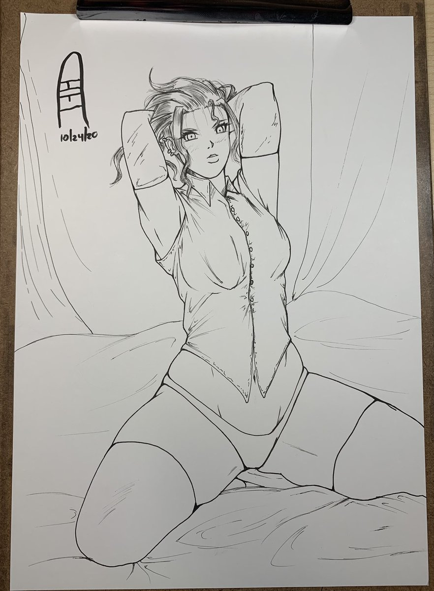 Did a quick Fanart of @luckgaki_ya 's character ^^. Definitely didn't do her justice but I tried XD~!  #anime #manga #art #fanart #draw #traditionalart #copic #ink #inktober2020 #arttrober2020 #sexy https://t.co/e3jKEnruoE