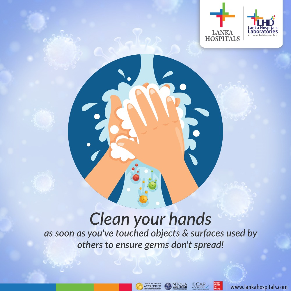 Wash your hands as frequently as possible to prevent the spread of germs. It is one of the simplest and easiest ways to control the spread of COVID-19.  #LankaHospitals #COVID19 #Coronavirus #WashYourHands #WashYourHandsRegularly #PreventionMatters https://t.co/R4oIBIUojD