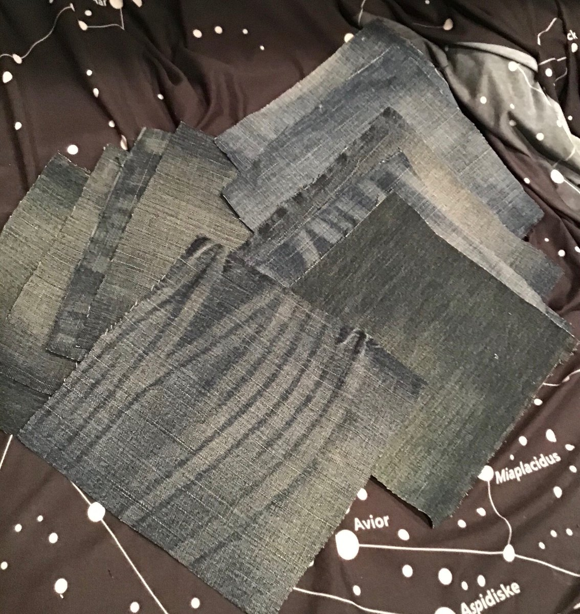 """New in my #etsy shop: Reclaimed Denim Squares—7x7""""—10 pieces #quilting #upcycled #denim #patches #salvaged #jeans https://t.co/sPA6gRBJYU https://t.co/A8gk9nSEdo"""