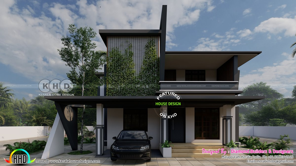 Kerala Home على تويتر Flat Roof Contemporary Style Green House Design Https T Co Kfh0glc9av Keralahomedesign Keralahousedesign Houseplan Home Design 3drendering Https T Co Luq0ijcnyf