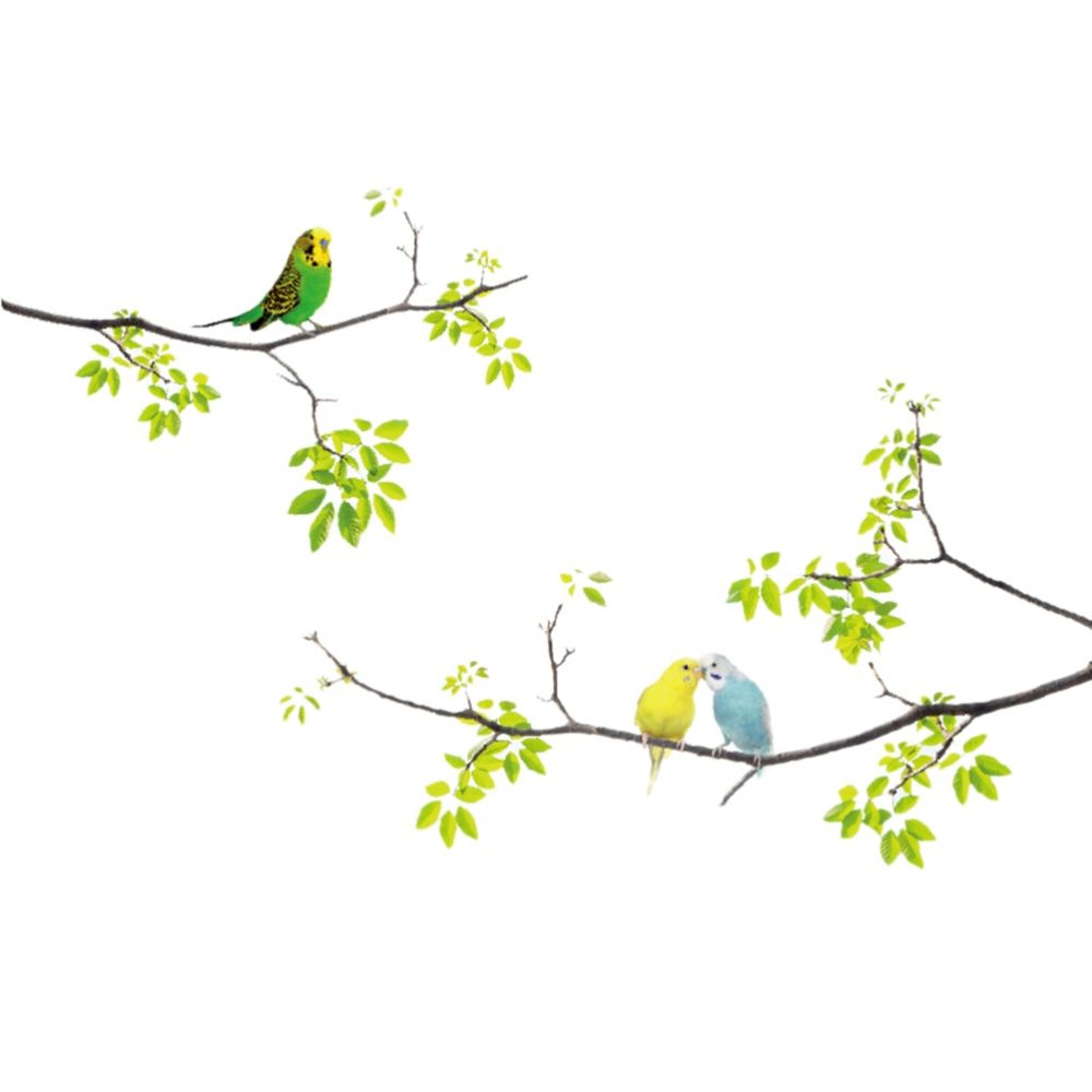 #etsy #green Birds on Tree Wall Sticker https://t.co/JWvNp2V92D