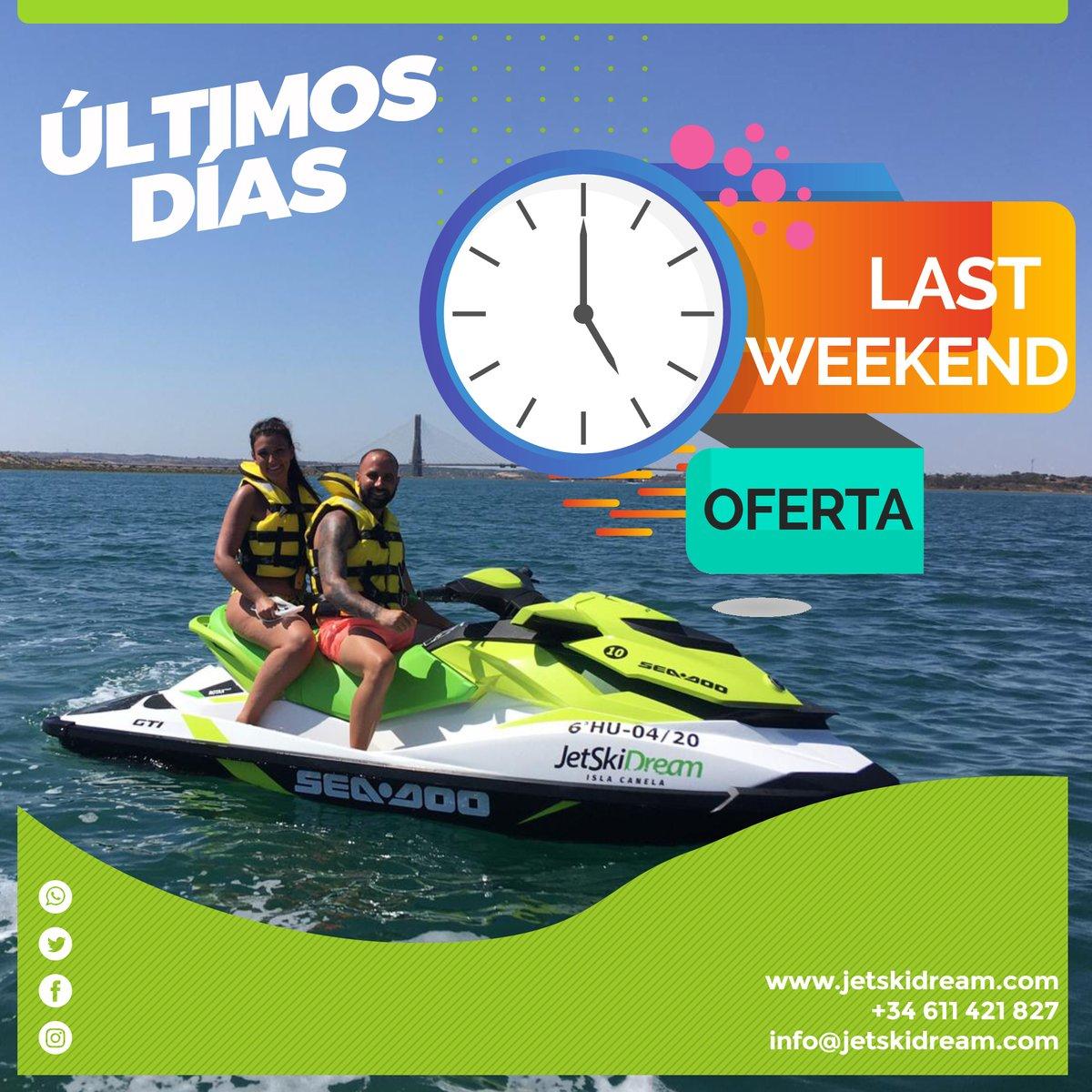 Último #findesemana de la temporada!! 😢 🌊 Tranquilo, aún puedes disfrutar de la #JetSkiDreamExperience. Nos vamos a despedir a lo grande!!😉⠀  Reservas:⠀ 🌐 https://t.co/3C3dNRRJEF⠀  #JetSkiDream #motodeagua #JetSki #jetskilife #SeaDoo #motosdeaguahuelva #Huelva https://t.co/26Su6ZYXHr