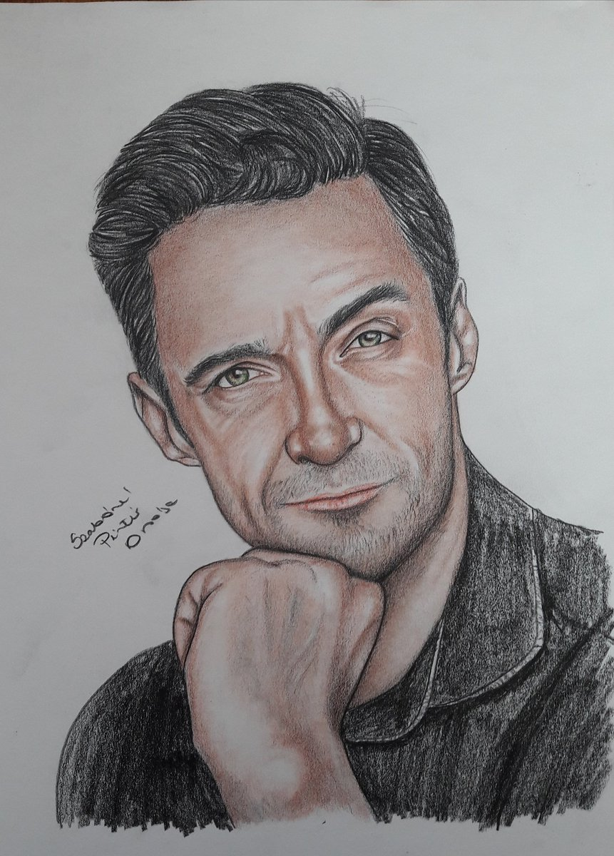 @RealHughJackman Dear @RealHughJackman , Today is my birthday!!  🎂 Would it be a wonderful gift for me to share your opinion on my drawing!!! 😊 It would be an honor for me! ❤ Orsi