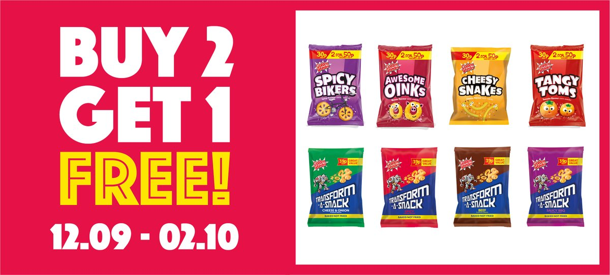 Buy any 2 cases of Golden Wonder 30p or 39p snacks and get a third case FREE! 😱  Shop the deal in selected* Hancocks stores from 24/10 – 13/11!  *Offer excludes Watford depot https://t.co/cYAeGmHdEc