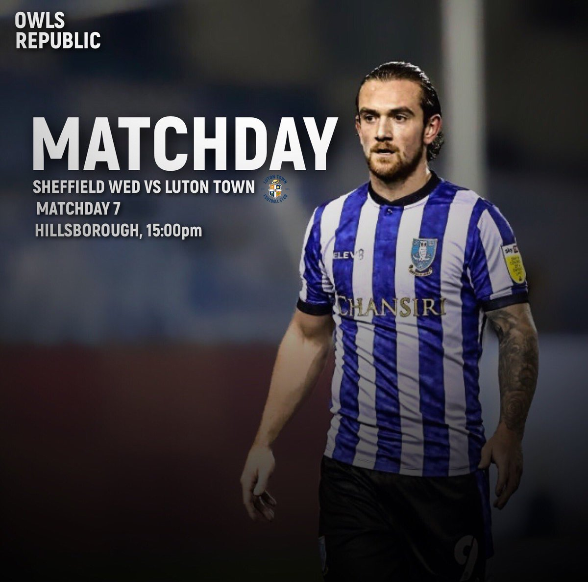 MATCHDAY| Nathan Jones' Luton Town at Hillsborough today, tough one, but come on Wednesday🦉 - #swfc #sheffieldwednesday https://t.co/sABQhUtl8b