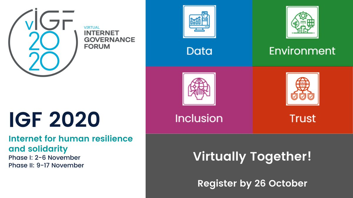 #IGF2020 is just around the corner!  - Register by 26 October.  - Visit https://t.co/iFjZP3XOtC and see what's on the agenda and who's participating! https://t.co/ISqBfVQnfi