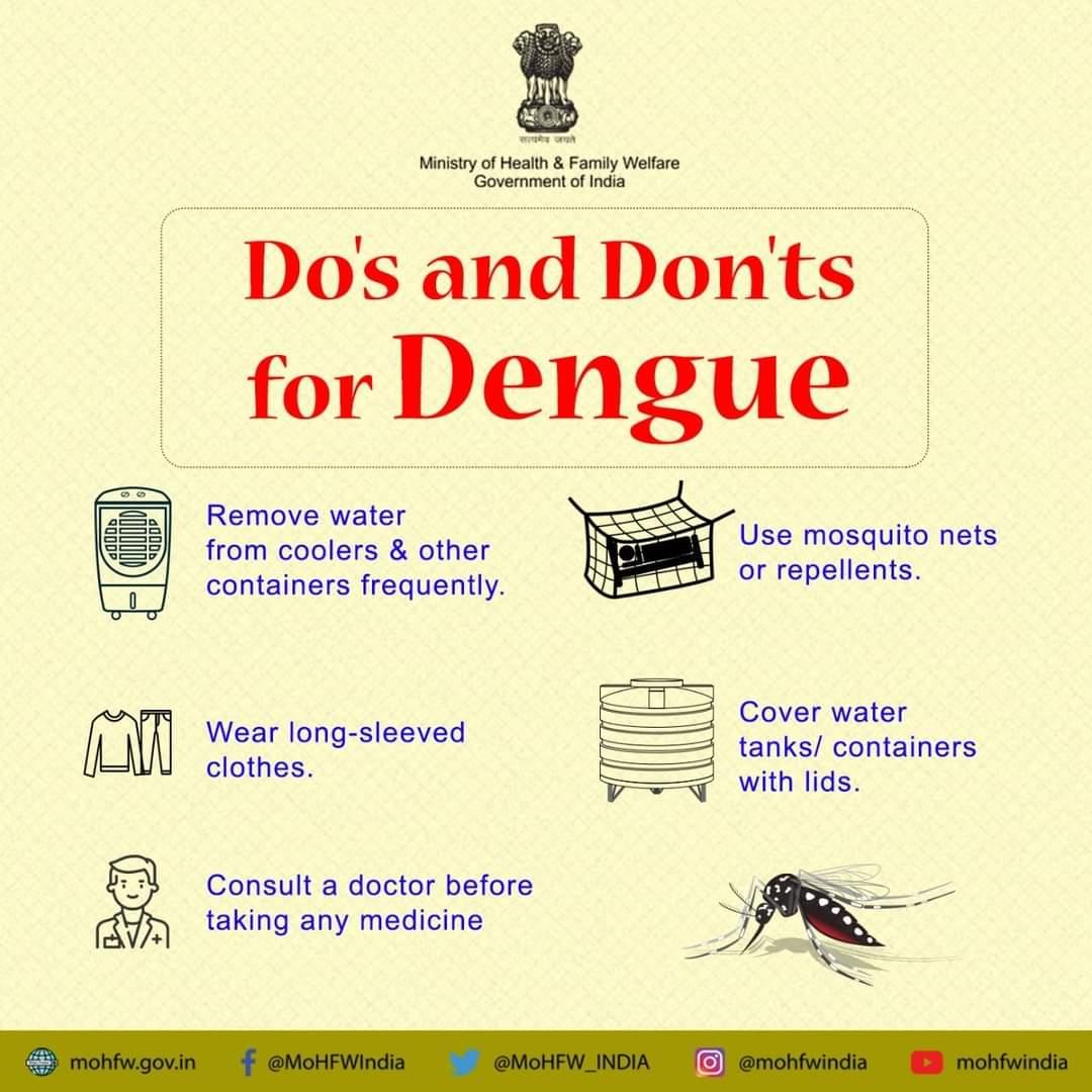 #COVID19 के चलते डेंगू को अनदेखा न करे।  इसकी रोकथाम संभव है। कुछ आसान से उपायों को अपनाकर, करें डेंगू से बचाव   #SwasthaBharat #TransformingHealth #Dengue  @dmsid1 @Cdosid1 @drsatishdwivedi https://t.co/IBQiGjHXCm