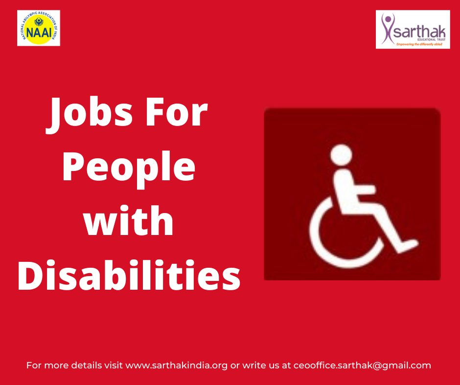 Sarthak's Job Portal for people with disability For more info visit-  Job Portal:  #ngo #supportus #divyangs #supportsarthak #empowerment #pwds #livelihoodsmatter #peoplewithdisability #dignity #inclusionatworkplace