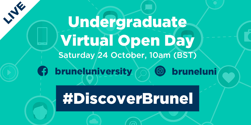 Welcome to our #VirtualOpenDay! Explore all aspects of #university life, talk to our staff and students, and find out what Brunel has to offer. Join our #interactive sessions: bit.ly/UGoct24TW. #DiscoverBrunel #OpenDay #BrunelUni #UK #London #Study
