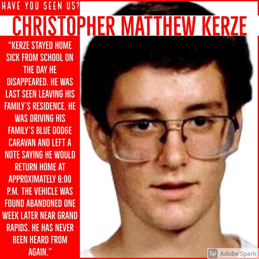 Christopher Kerze: Missing Since April 20th, 1990. #UnsolvedMysteries #Unsolved #MissingInMN #Disappeared #HaveYouSeenUs #Missing #Dateline #ChristopherKerze #Minnesota #MN #Vanished https://t.co/fgyFIIZTjF