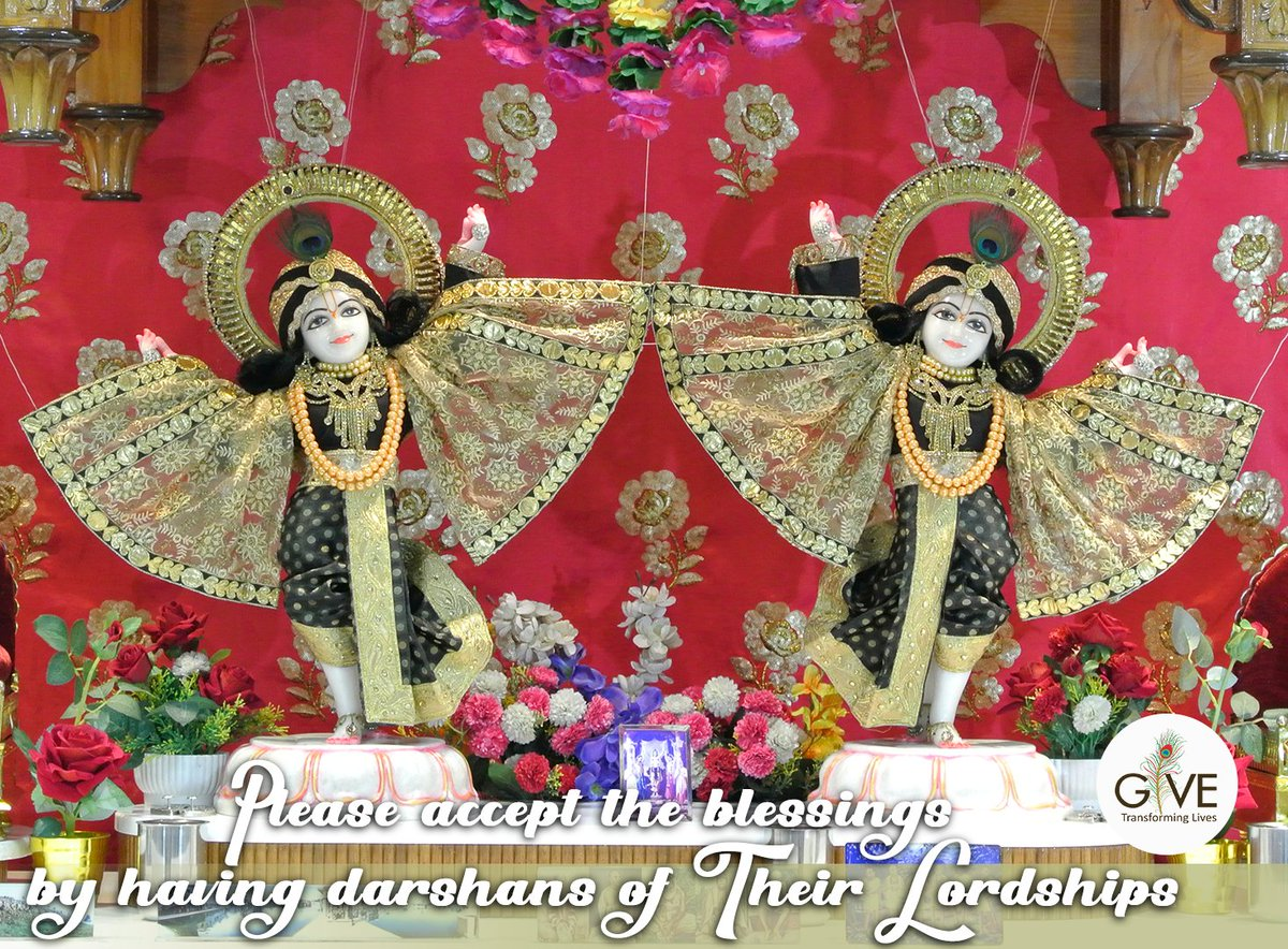 Please accept the blessings of Sri Sri Radha Gopshreshtha and Sri Sri Nitai Gaurannga! Share the divine darshans with as many people as possible and receive multifold blessings of the Supreme Lord Sri Sri Radha Krishna!  #givegita #krishna #God #gopu #meditation #inspirational https://t.co/E2cphIU2R7