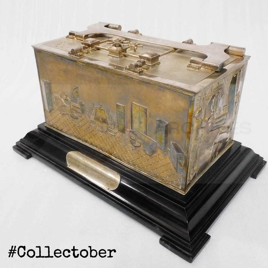 #Collectober  This adorable silver casket is one of our favourites! Godrej employees presented this lovely gift to their beloved 'Pirojsha Seth' on his son Burjor Godrej's wedding on 15th April 1941 #Memorabilia #Archival #ArchivalObjects #Archiving #ProductHistory #UnusualObject https://t.co/GhaqJVV5WU