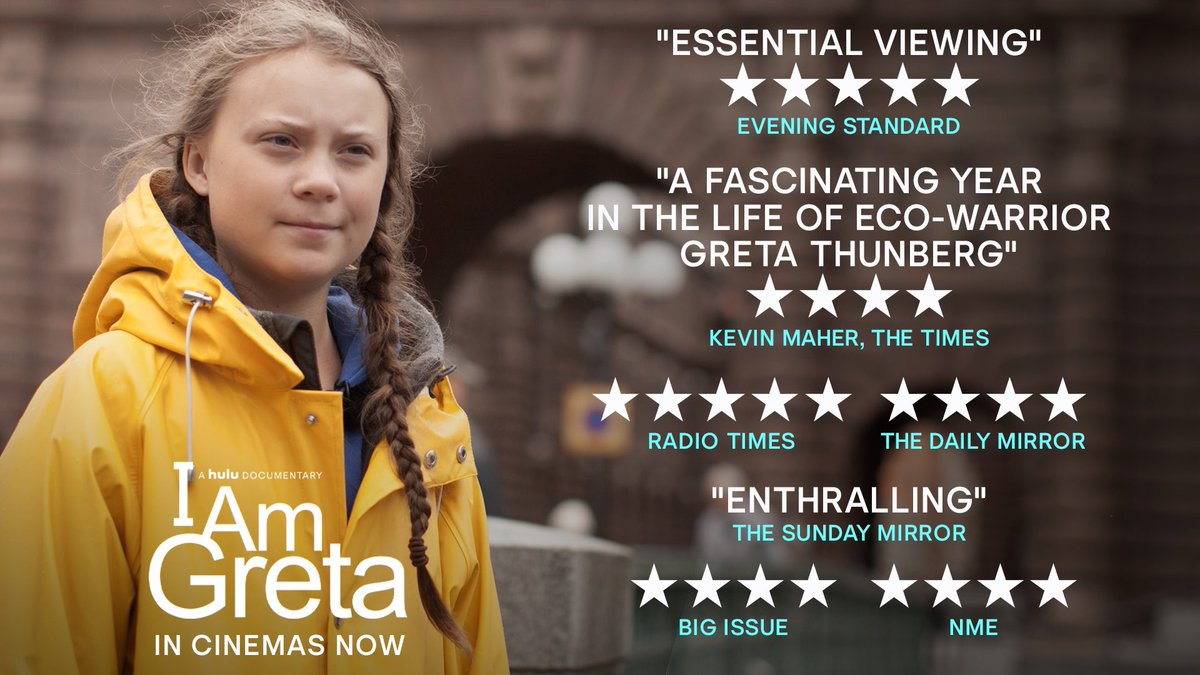 The documentary I am Greta opens this weekend also in Italy, Mexico and selected theatres in the USA. It will be streaming on Hulu from November 13.