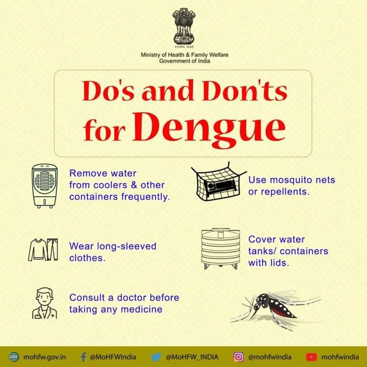 #COVID19 के चलते डेंगू को अनदेखा न करे।  इसकी रोकथाम संभव है। कुछ आसान से उपायों को अपनाकर, करें डेंगू से बचाव    https://t.co/z77juIt1Br.   #SwasthaBharat #TransformingHealth #Dengue https://t.co/ynfpu3GLwR