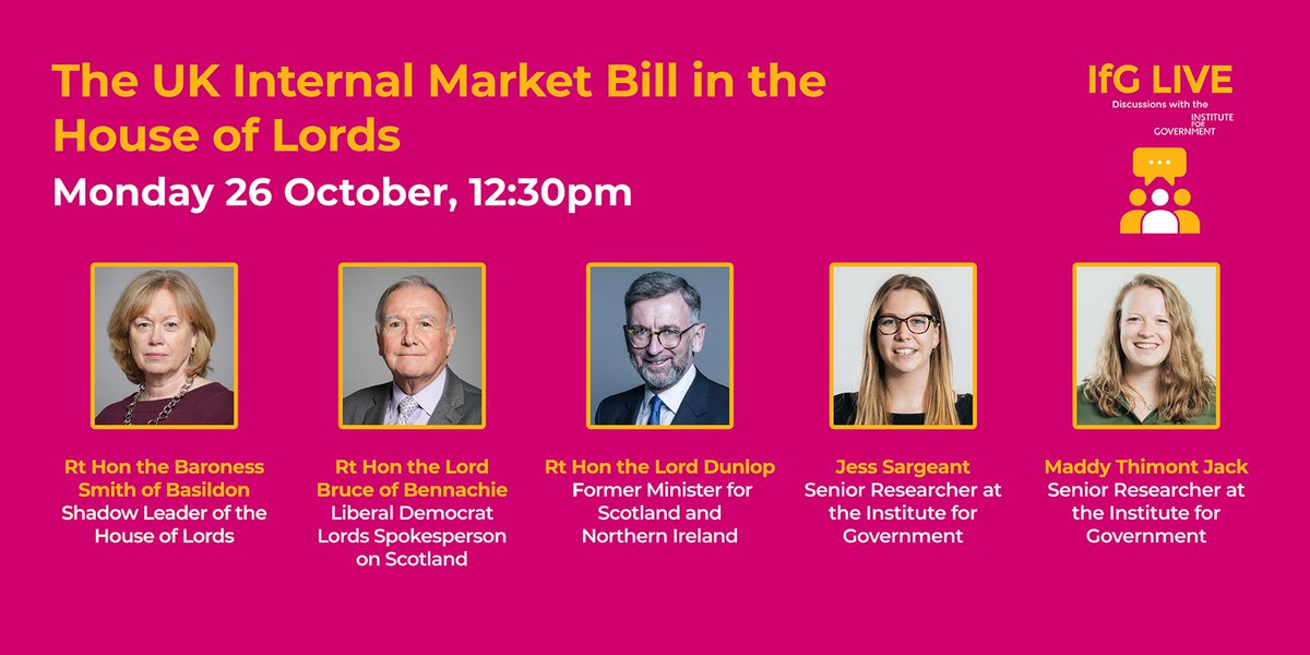 If you're interested in the #InternalMarketBill and what the Lords will make of it, you should definitely dial into this brilliant @instituteforgov event on Monday. (You might also like my blog here: https://t.co/wRByri53PM) https://t.co/aLqvNDdJSK