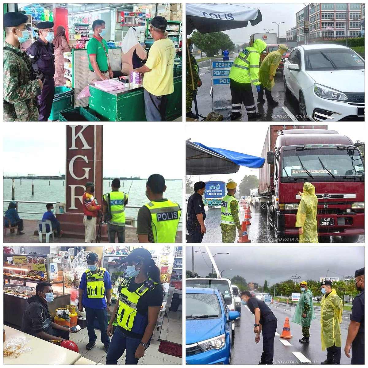 RT PDRMsia: #PKPB #COVID-19  PIC OF THE DAY: PEMANTAUAN PEMATUHAN SOP PKPB OLEH PDRM   Sumber: Polis Klang Selatan, Polis Selangor dan Polis Daerah Kota Kinabalu  #StayHome #BeSafe #Pray4Malaysia HELP BREAK THE COVID-19 CHAIN https://t.co/cEBoiLIWFv