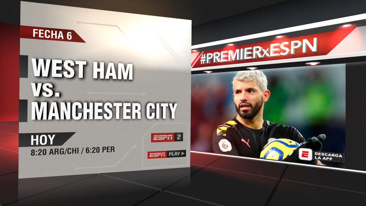 Desde temprano continúa la acción en la #PREMIERxESPN y te invitamos a disfrutar de West Ham-Manchester City, a través de la pantalla de #ESPN 2. ¡Sumate! https://t.co/OdTzxQTV13