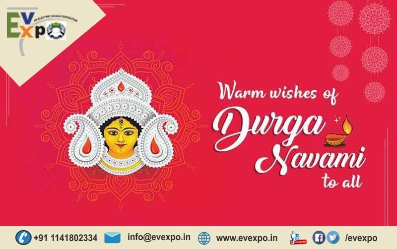 """On this auspicious occasion of Durga Navami, I wish you are blessed with prosperity and success By Maa Durga, Wishing You Subho Maha Navami! #DurgaNavami #navaratri2020 #MahaNavami   #EVExpo #EV  #BeSafe #SafeStay #WashHand #Safehand #Covid19 #UseSanitizer #StayAtHome https://t.co/PudxXF78Hc"