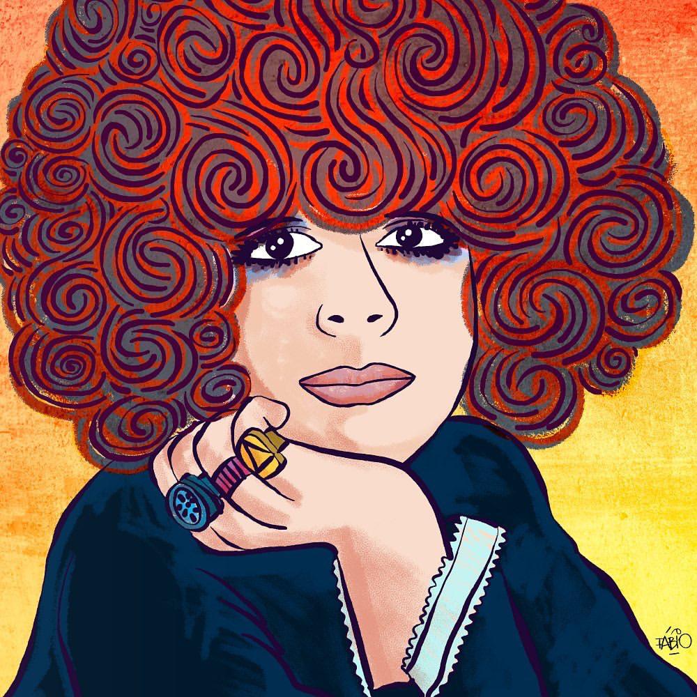 Cabelo, cabeleira Cabeluda, descabelada  Ilustração: @biritaillustration #GalCosta #Gal75 https://t.co/TvINcpUnzz