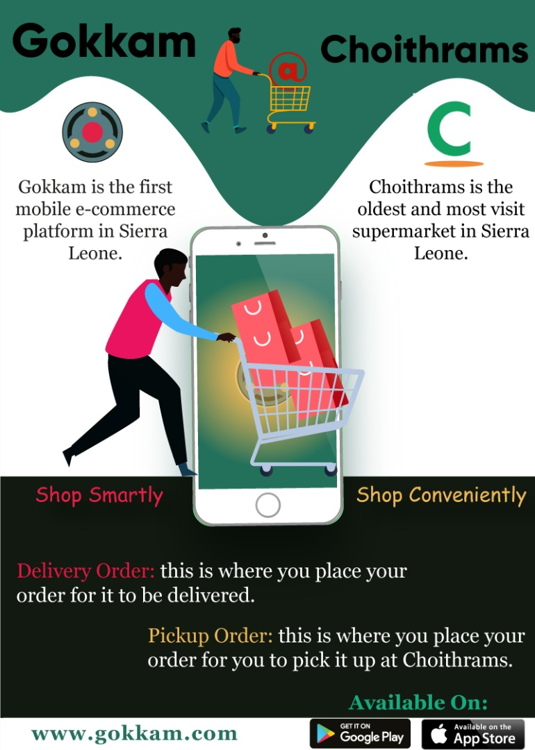 Now you can order your groceries, provisions and others from @ChoithramSL using the #gokkamApp the #best  ordering and delivery app in #sierraleone. @tmj_sle_jobs  #freetown #supermarketInSl #GokkamQuick https://t.co/uMQRgOWTz6