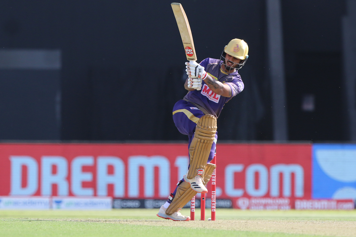 A well made half-century for @NitishRana_27 off 35 deliveries. His 10th in IPL.