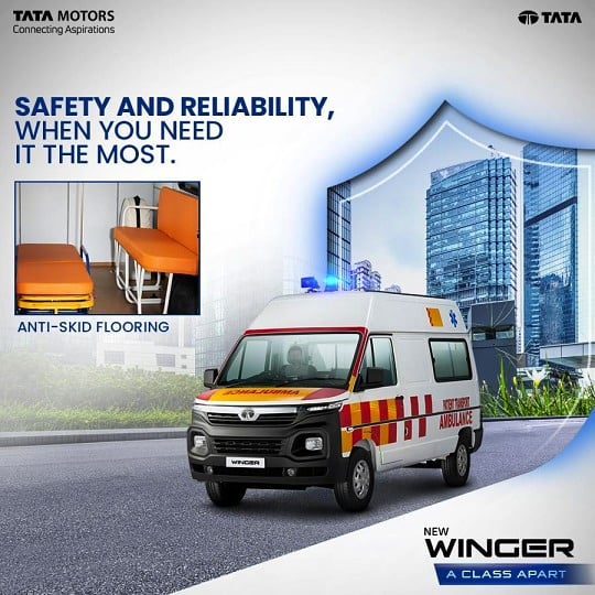 Tata Winger Ambulance ensures the safety of medical professionals and attendants in a crisis with its anti-skid flooring that prevents unforeseen accidents while loading or unloading patients.  #TataWinger #TataMotorsBS6Winger https://t.co/1BO8rtG4dc