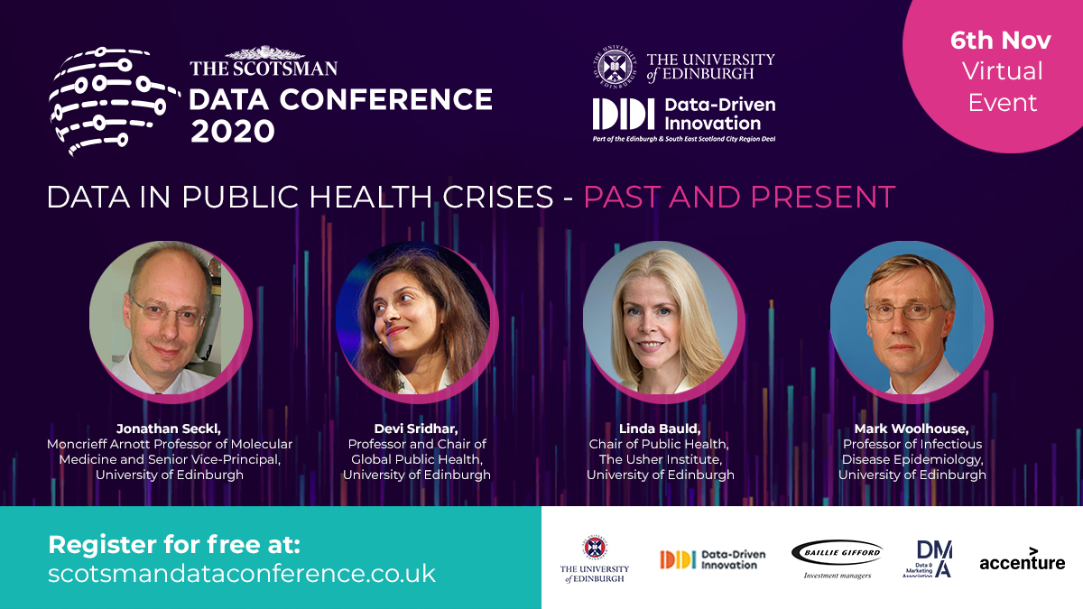 World leading experts join data conference on combatting Covid19 sponsored by @EdinburghUni @DataCapitalEd @DMA_UK @BaillieGifford @Accenture. trib.al/fh3eHqX