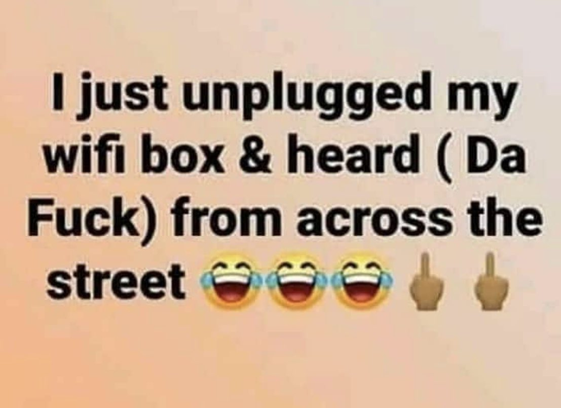 Replying to @FINALLEVEL: Lol... Too funny!