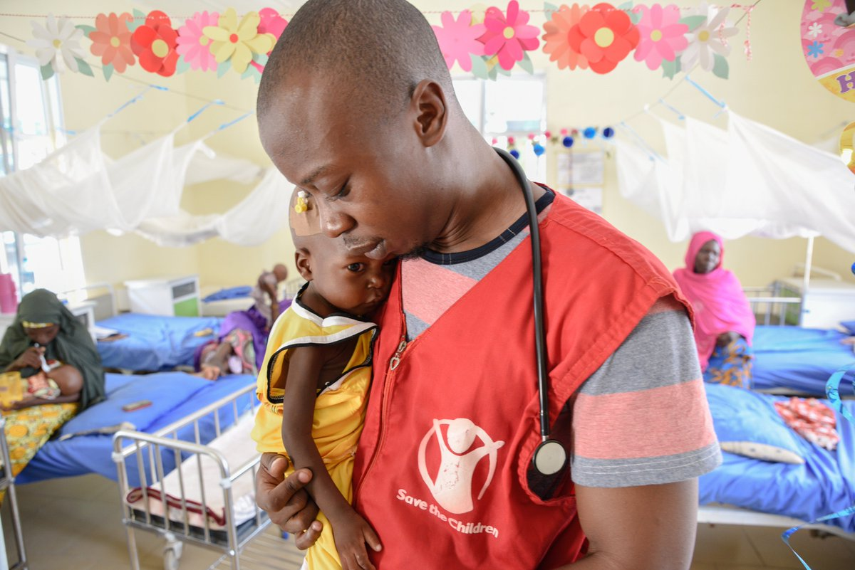 Dr Aluh Francis works in our stabilisation centre in northeast Nigeria where he provides intensive care to children suffering from life-threatening severe acute malnutrition.He also educates new mothers on breastfeeding, which significantly increases a childs chance of survival.
