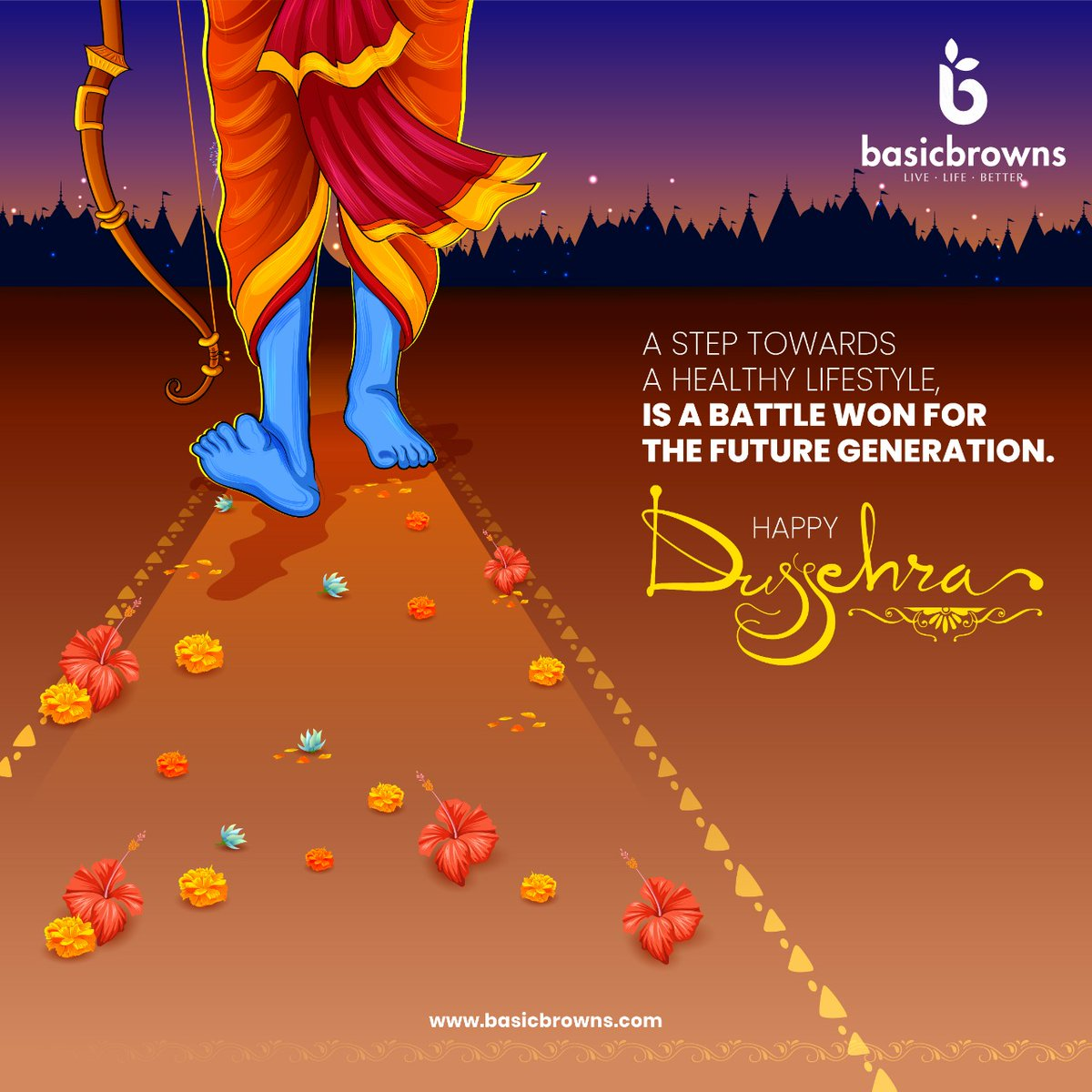 This Dussehra, let's call it an end to the chemical influenced way of living because that's the one change which can bring more positivity into our lives. . . . #basicbrowns #livelifebetter #forabettertomorrow #hyderabad #dussehra #dussehra2020 #dussehraspecial #happydussehra https://t.co/r1onkicwkk