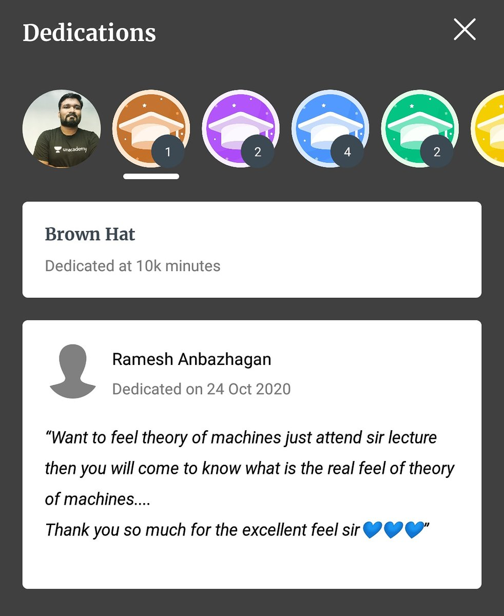 ❤️❤️ these words motivate me to wakeup whole night and bring more and more feel to the subject. 🔥🔥   #thankyou #VISHVAJEETVERMA #verma #unacademyPLUS #UNACADEMY #teacher #topeducator #TOM #GATE #IES #mechanicalengineering #mechanical https://t.co/HyKeiNTVlJ