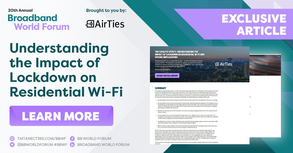 Residential Wi-Fi is an essential service, a fact that became so much clearer during the COVID-19 lockdowns. This article by our friends at @AirTies, reveals the full impact the pandemic has had on the technology. Learn more ➡️ https://t.co/wHULSxpiqY  #BBWF #AirTies #WiFi https://t.co/vOe2Ix7Xuq