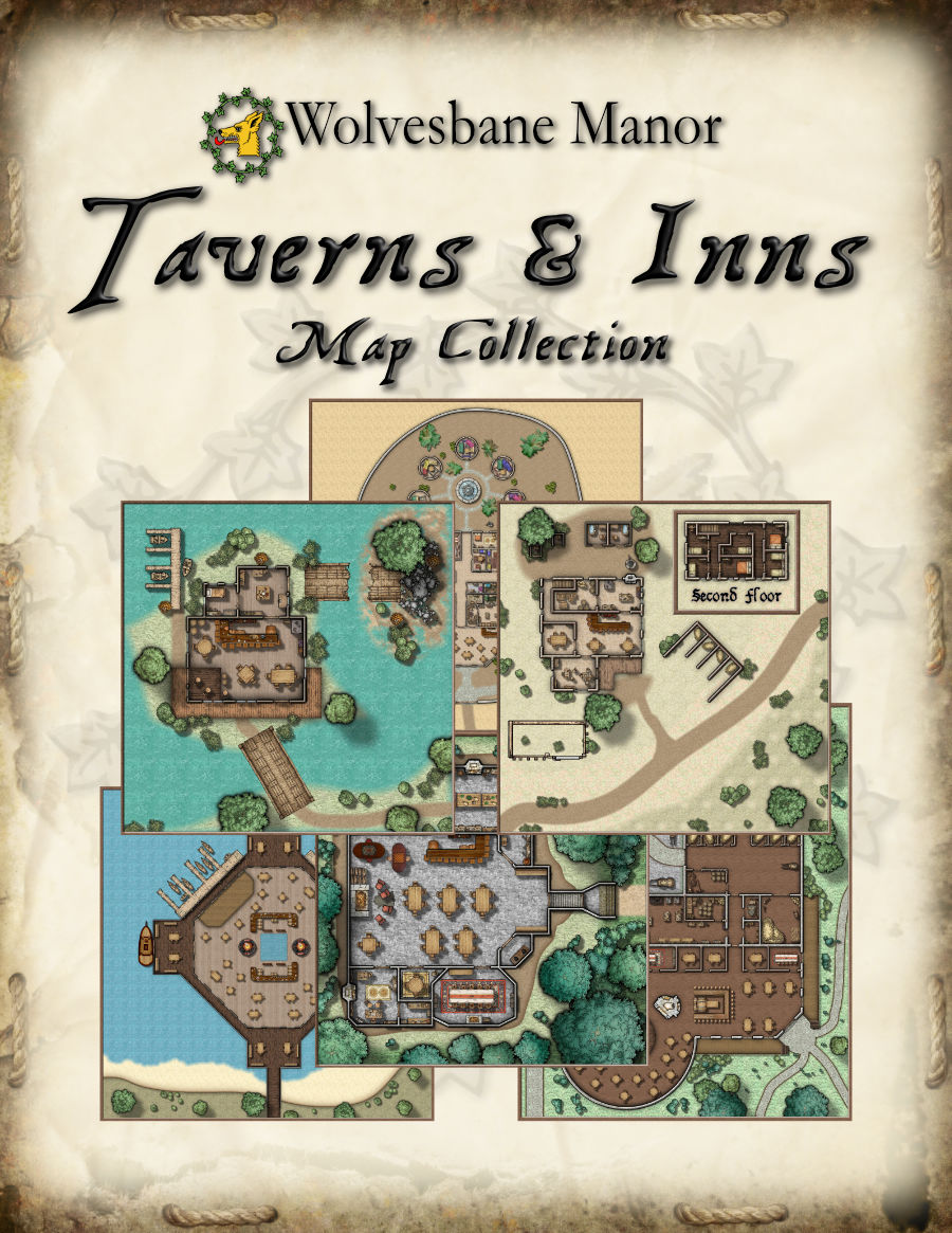 Our Taverns & Inns Map Collection launched today on @DriveThruRPG  6 taverns 12 maps (with and without grid) https://t.co/Cy0vJPryWA https://t.co/dyk7LXMHZ2
