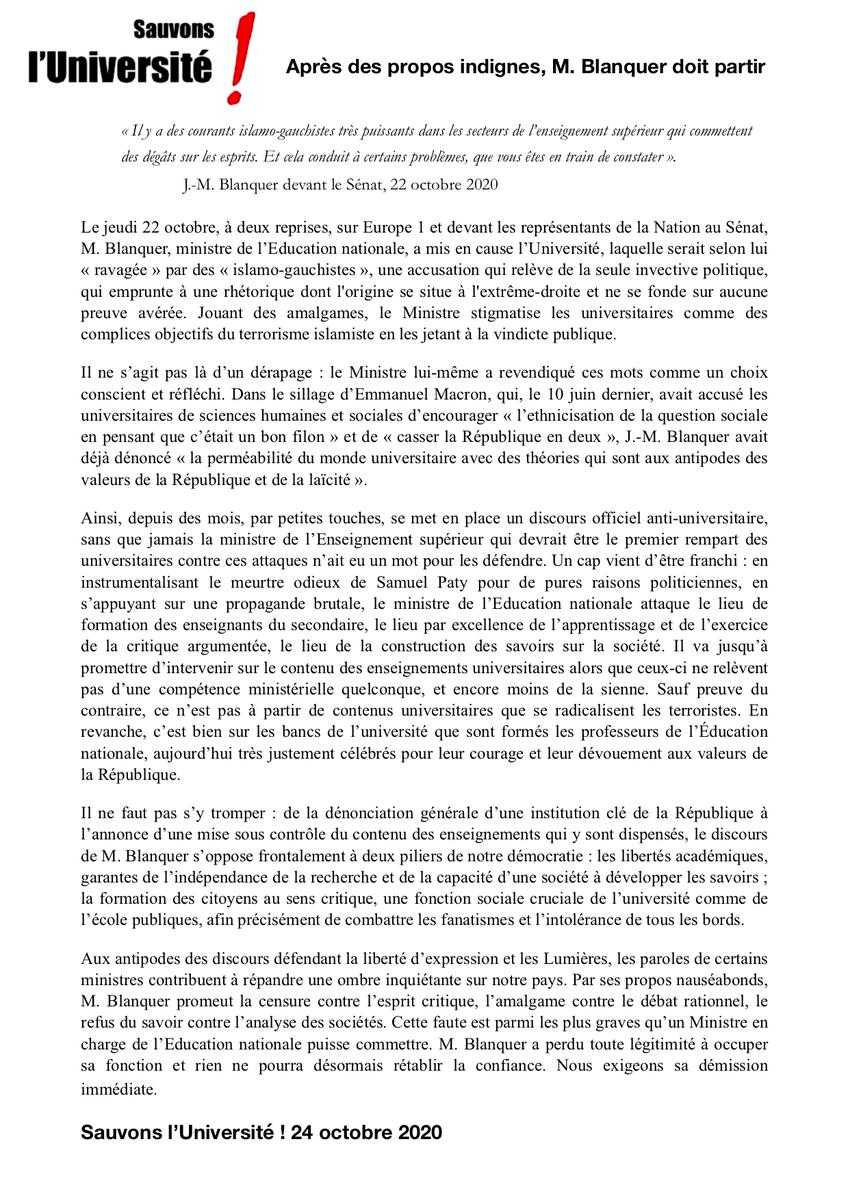 test Twitter Media - Après des propos indignes de sa fonction, M. Blanquer doit partir - communiqué de Sauvons l'Université ! @FCPE_nationale https://t.co/ipdOXZwdyZ https://t.co/j5GbC8H4C4 https://t.co/Rf600xmj84