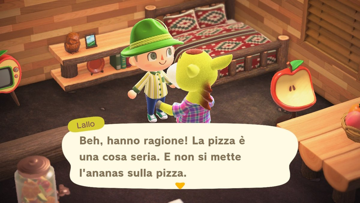 Clyde is right: pizza is an important thing and pineapple doesn't go with it! #AnimalCrossing #ACNH #NintendoSwitch #Clyde #Pizza https://t.co/cIyLyC4ZrS