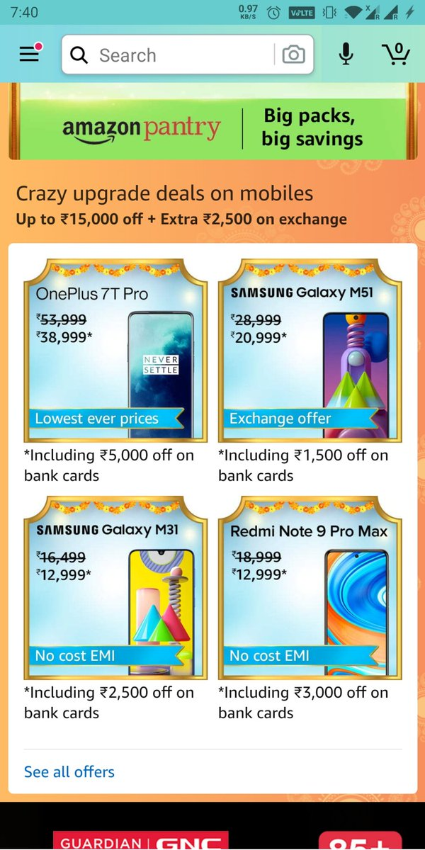 test Twitter Media - @amazonIN Itni Khushi.. aakho me aansu aagaye 😭  Favorite deals on smartphones  #AmazonHappinessUpgradeDays https://t.co/e06FAdpIg9