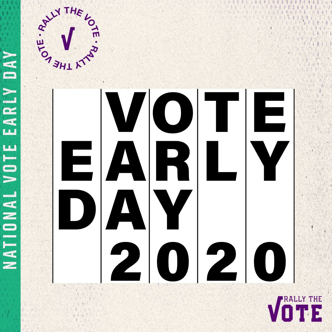 Today is #VoteEarlyDay where we are asking everyone to mail in your ballot, vote early in person, or confirm your polling location to vote on Election Day. Help us out today by texting 5 friends to make sure they are ready! https://t.co/BivLi68CTM