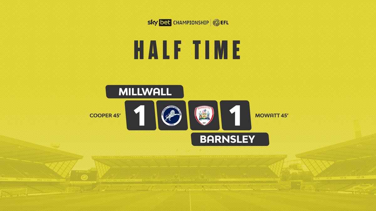 ⏱️ A frantic end to the first half. https://t.co/3F1hvlkhFJ