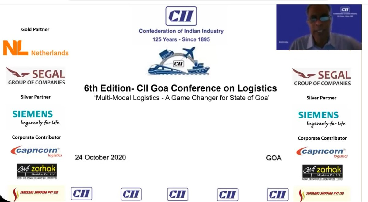 CII Goa hosted 6th Edition CII Goa Conf. on Logistics 'Multi-Modal Logistics: A Game Changer for Goa  to develop modern air cargo facilities, Multi-Modal Logistics Park at Balli in South Goa & Blue Economy-Integration of Water based Economy & Maritime Cluster. #CII4WR @CII4WR https://t.co/3GuYRoc0do
