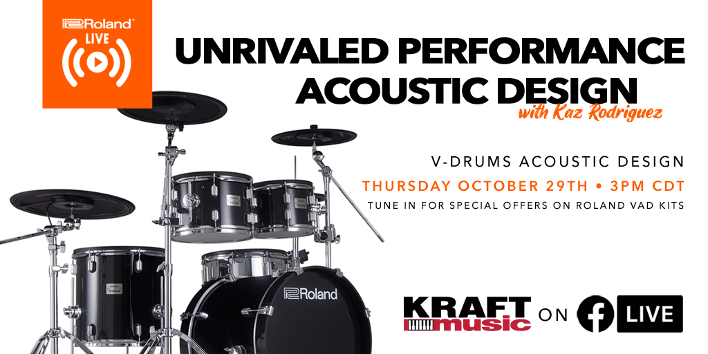 Join us for an exciting live event featuring the Roland V-drums Acoustic Design Drum Sets, as part of our Music is Essential month! 👇 https://t.co/rdEhMhOnhe  @Roland_US #Roland #Vdrums #drumkits #drumsets #drummer #drummerlife #drummerworld #drumming #rolandvdrums https://t.co/G2wnHpEVDO
