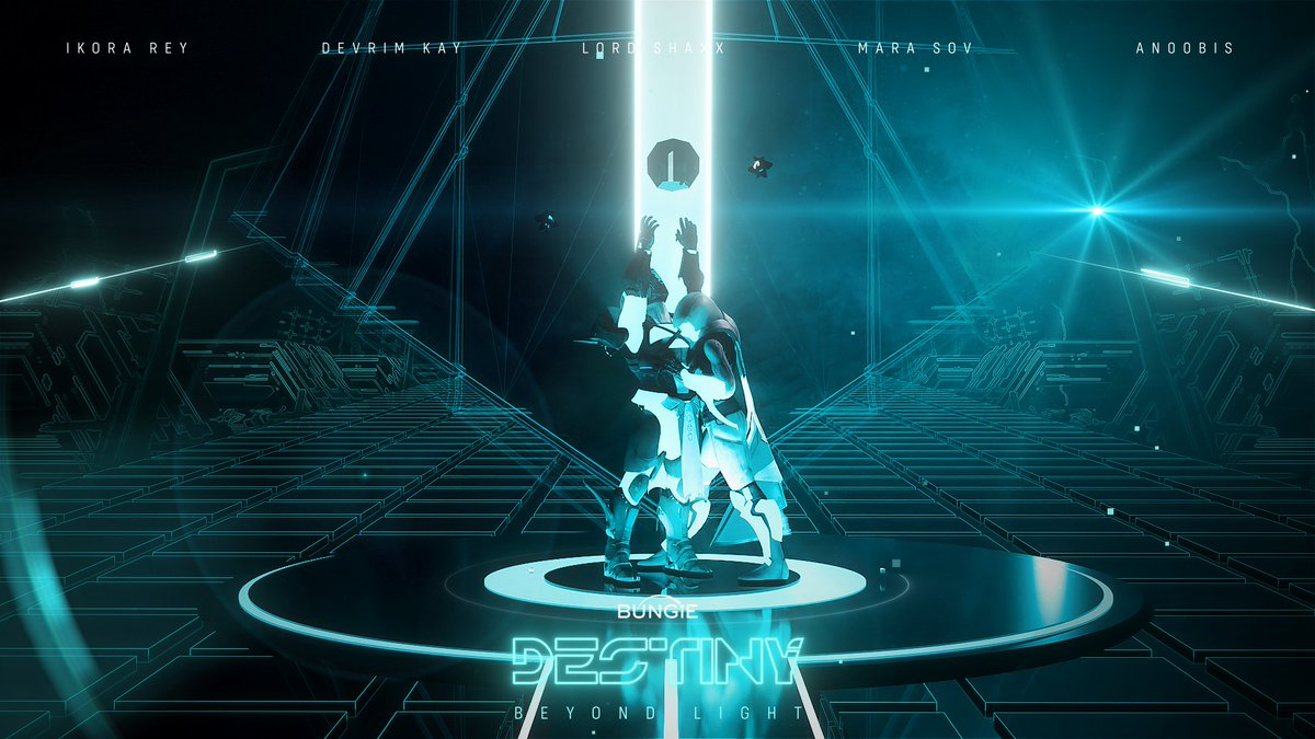 SecondToLast - 3D Fanart Saturday. One of my favourite films with my favourite game.  Destiny x Tron