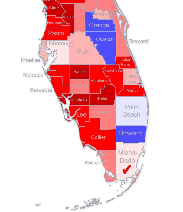Look at which county just turned red for in-person early voting.   👀👀👀  @Barnes_Law @Peoples_Pundit @varadmehta @EdAsante77 @RyanGirdusky @TRElections @PollWatch2020 @monk_cryptic @eball0911 @amlivemon @MarcACaputo @athein1 @mantlehog @CottoGottfried @quantuspolling #Florida https://t.co/nNZpBbBCgf