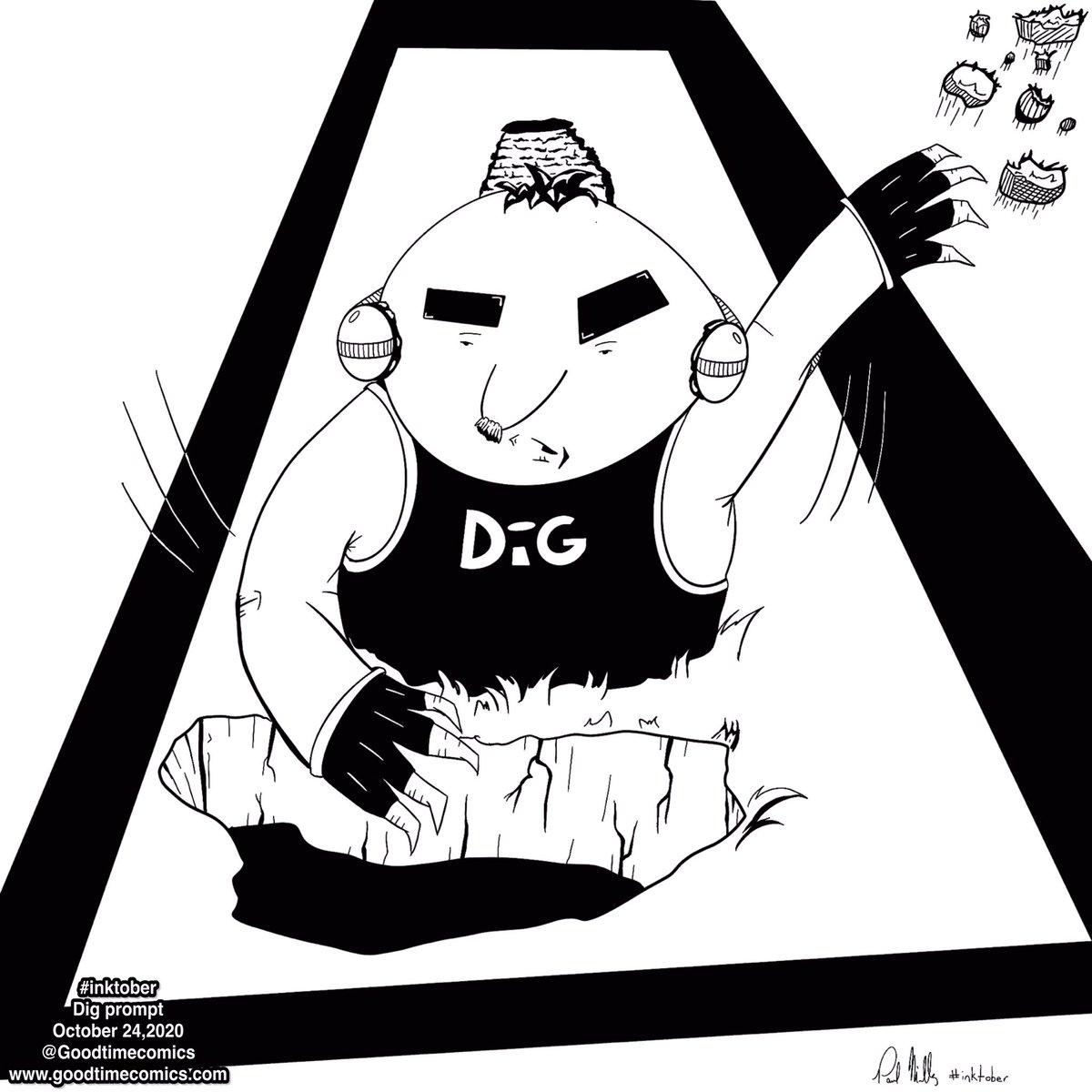 #inktober2020 #day24 prompt is #dig So here's the hard working mole Dig doing his thing   #inktober #inktoberdig #inktoberspotlight #inktoberday24 #inktoberchallenge #inkart #mole #inktoberprompts #draweveryday #drawtober #cartooncharacter #funnyart #inktoberart #digitalink https://t.co/HaqzpDpQkF