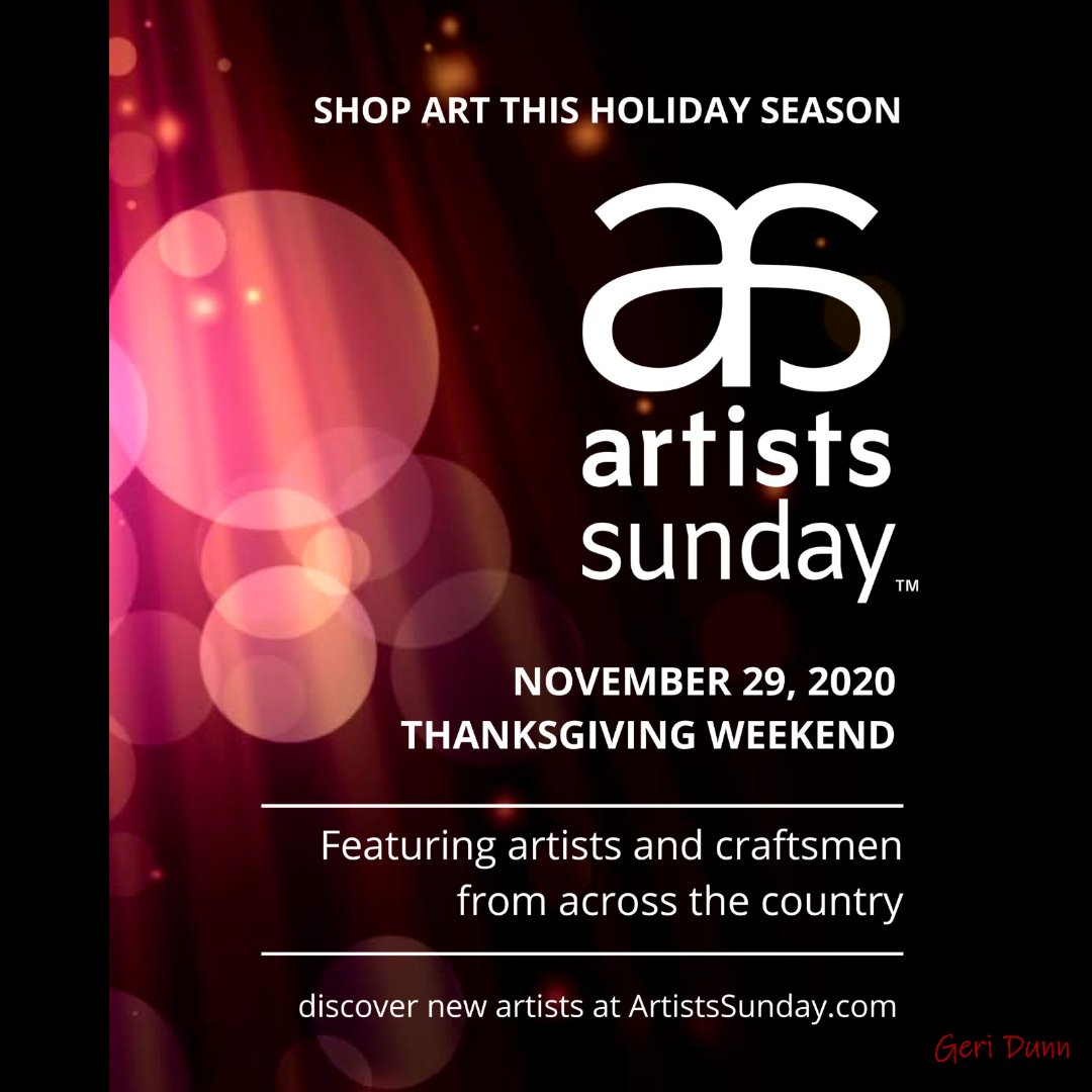 Excited to be a part of this event!  With artists from across the country, this should be a fantastic event to discover new art!  #artistssunday #artistsacrossthecountry #bestofthebest #dreambig #cowgirl #holidays #holidayseason #gifts #thanksgiving #geri #geridunn #shopart https://t.co/VMLyAetkYM
