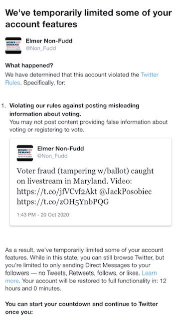 @Twitter has restricted @Non_Fudd because of RETWEETING @JackPosobiec!?! Really!?!   @koopac7 @DLoesch @ChrisLoesch @guntruth @ms_ezell https://t.co/tRxcZiAayY